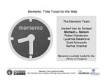 Memento: Time Travel for the Web