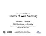 A Very Incomplete & Biased Review of Web Archiving