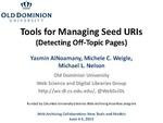 Tools Managing Seed URls (Detecting Off-Topic Pages)