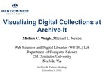 Visualizing Digital Collections at Archive-It