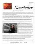 Friends of the Libraries Newsletter, July 2015 by Fern McDougal (Editor)