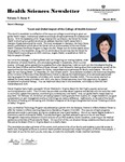 College of Health Sciences Newsletter, March 2014