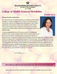 College of Health Sciences Newsletter, October 2012