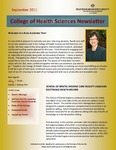 College of Health Sciences Newsletter, September 2011